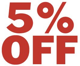 """Get 5% off Storewide this weekend only 11-6-15. Use code """"5OFF"""" at checkout and get free shipping."""
