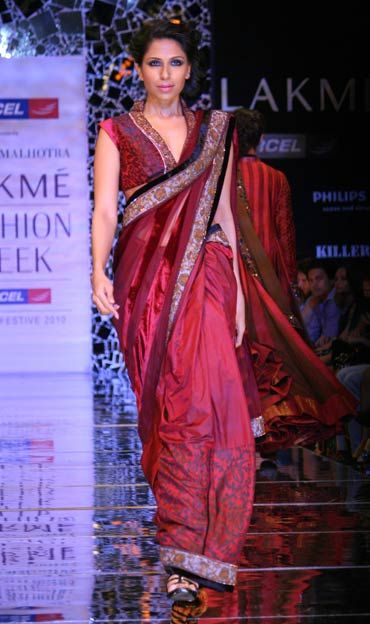A model in a Manish Malhotra creation