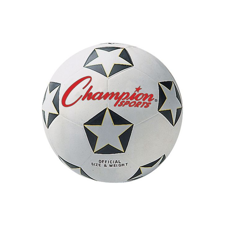 Youth Champion Sports Star Rubber Cover Soccer Ball, Multicolor