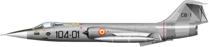 """F-104G Starfighter, ALA 12, Ejército dl Aire """"EA"""", Spanish Air Force"""