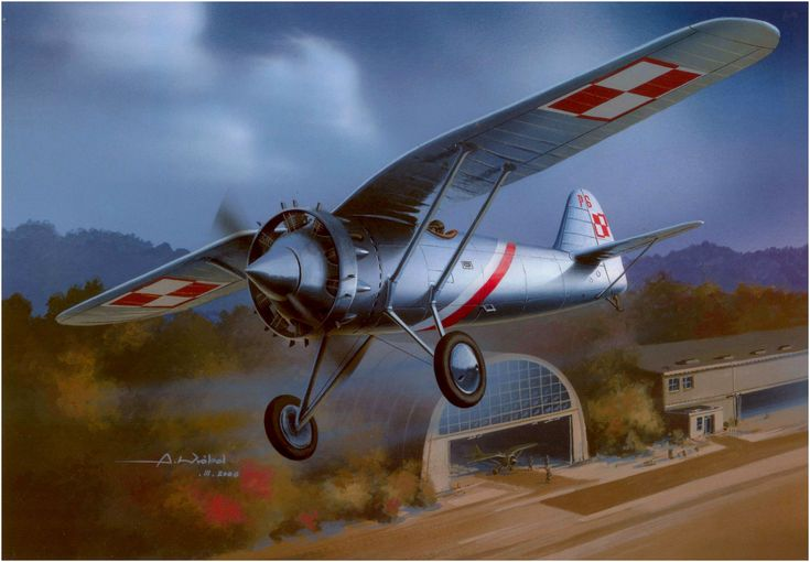 PZL P-6 Capt. Boleslaw Orlinski by Arkadiuz Wróbel