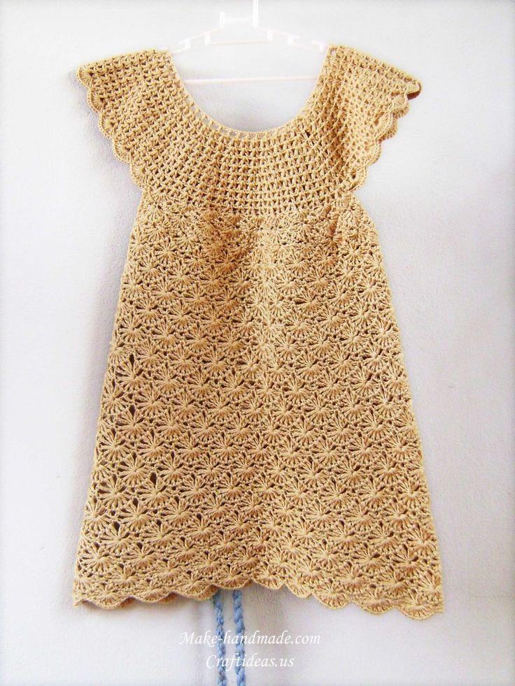 crochet baby dress, crochet pattern | make handmade, crochet, craft