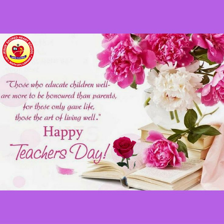 The entire school echoed with '#Happy #Teachers' #Day' wishes of the students for their teachers at Jesus' Sacred Heart School