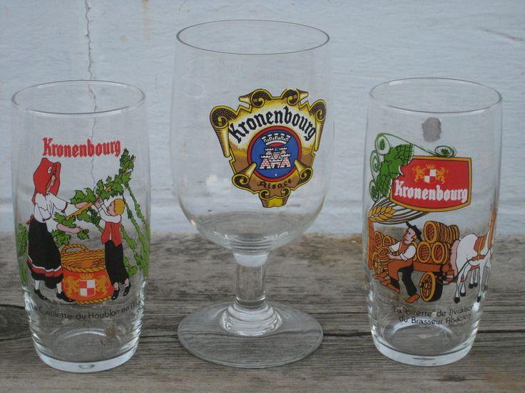 Kronenbourg 3 verres à bière