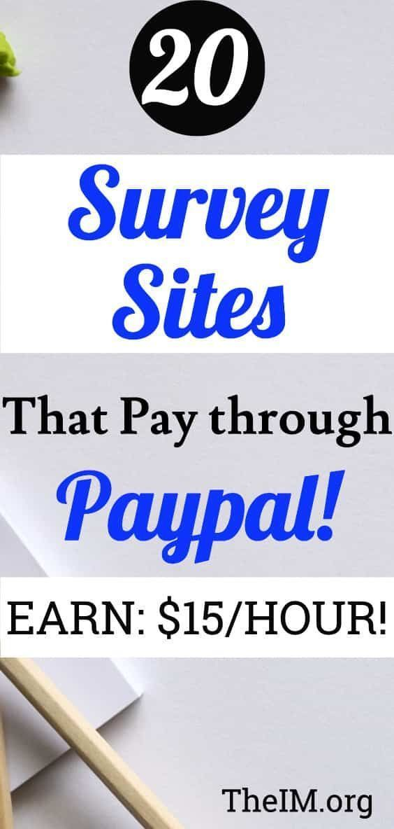 surveys that pay instantly to paypal 20 legit online survey sites that pay through paypal 5022