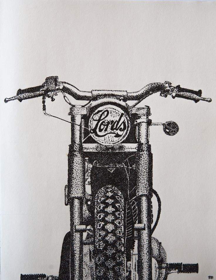 Lords of Gastown - Tribute - Harley Davidson - Pointelism Art by Breanne Bryans