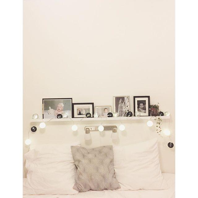 Sovrummet blev väldigt mycket mysigare med en ljusslinga 💡
