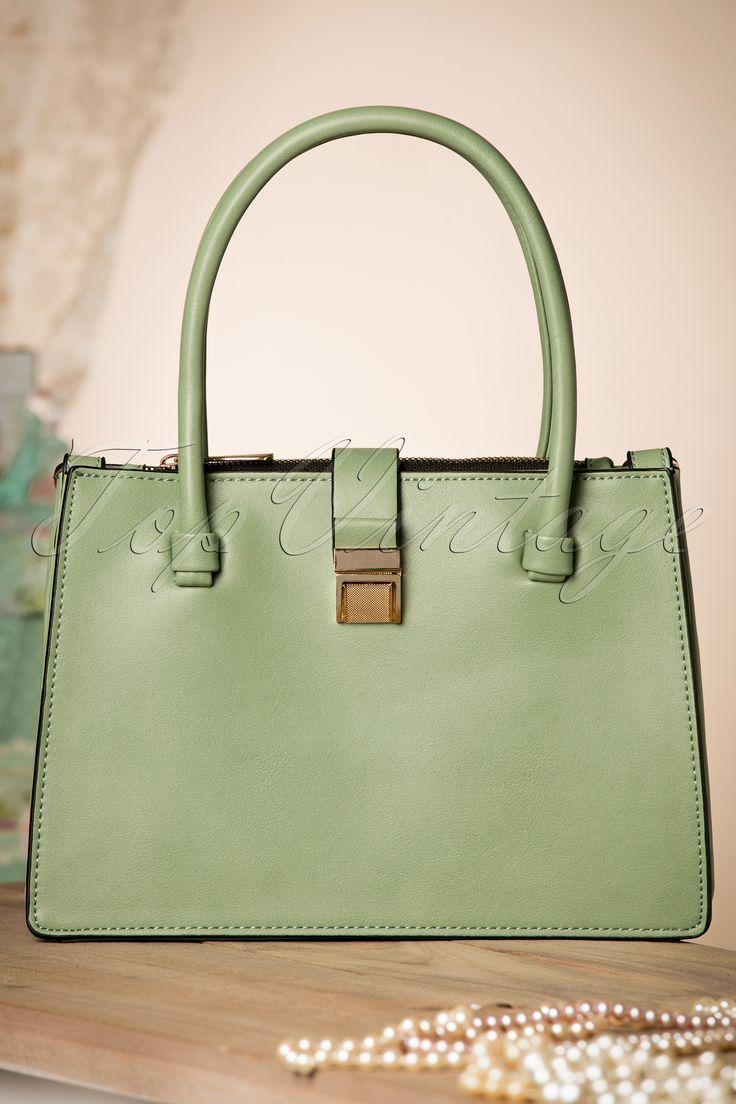 Milan ~ 40s Classy Glorie Handbag in Antique Green