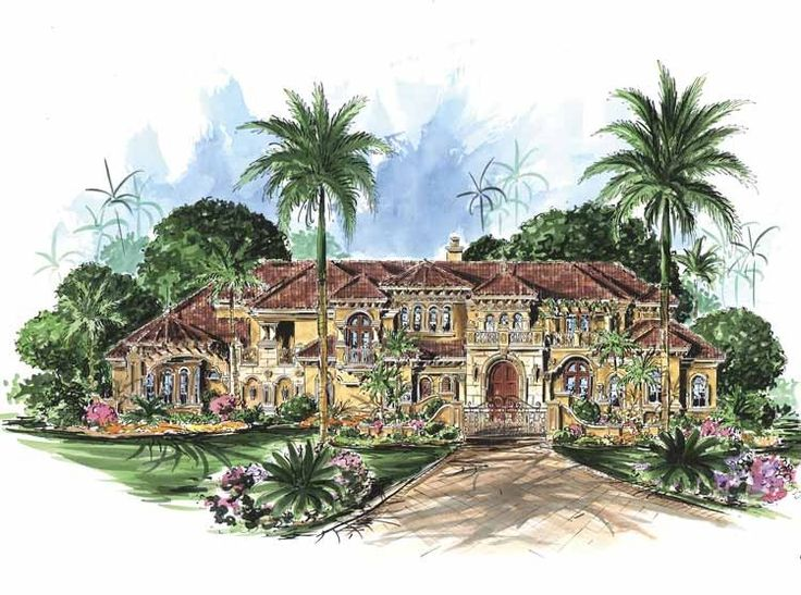 eplans mediterranean house plan six bedroom mediterranean 10178 square feet and 6 bedrooms
