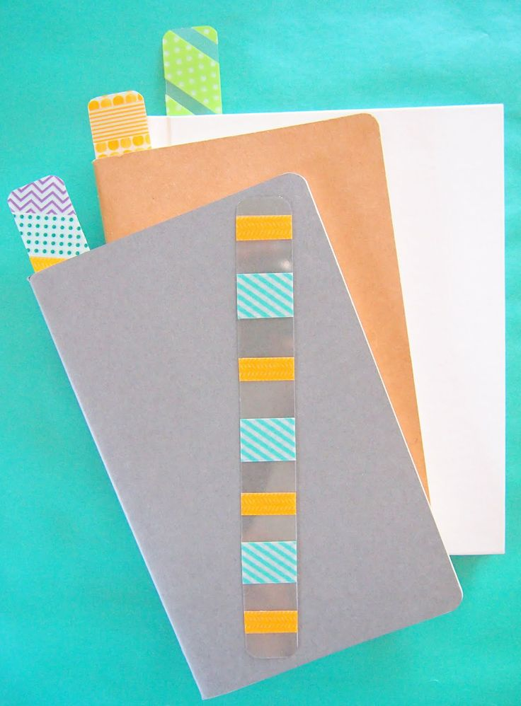 Washi Tape and Recycled Plastic Bookmarks - this would be great to help Rachel read in her chapter books.