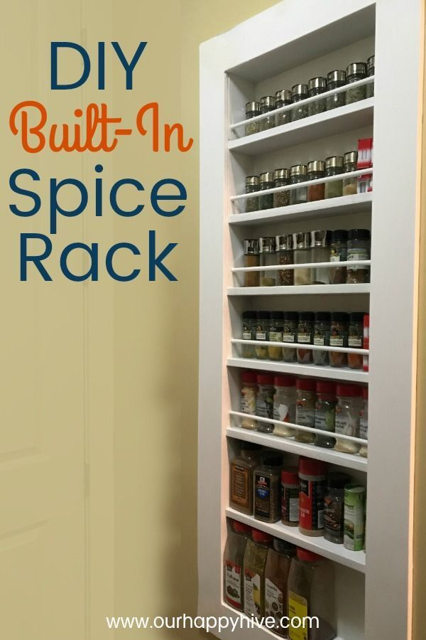 Spice Things Up With A Diy Built In Spice Rack Spice Rack
