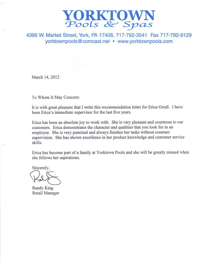 Letters Of RecommendationLetter Of Recommendation Formal ...