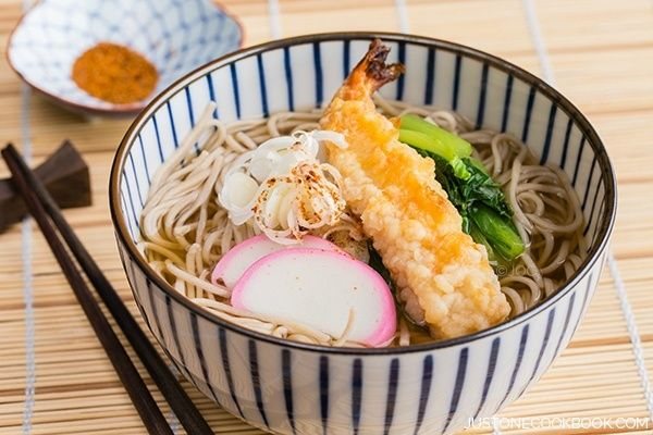 Soba Noodle Soup 温かいお蕎麦. Also use as tempura shrimp udon
