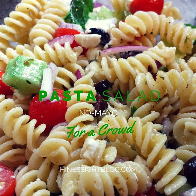 Easy No Mayo Pasta Salad Great To Carry As A Side Dish