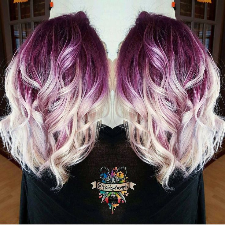 Blonde And Purple Hair Styles 19