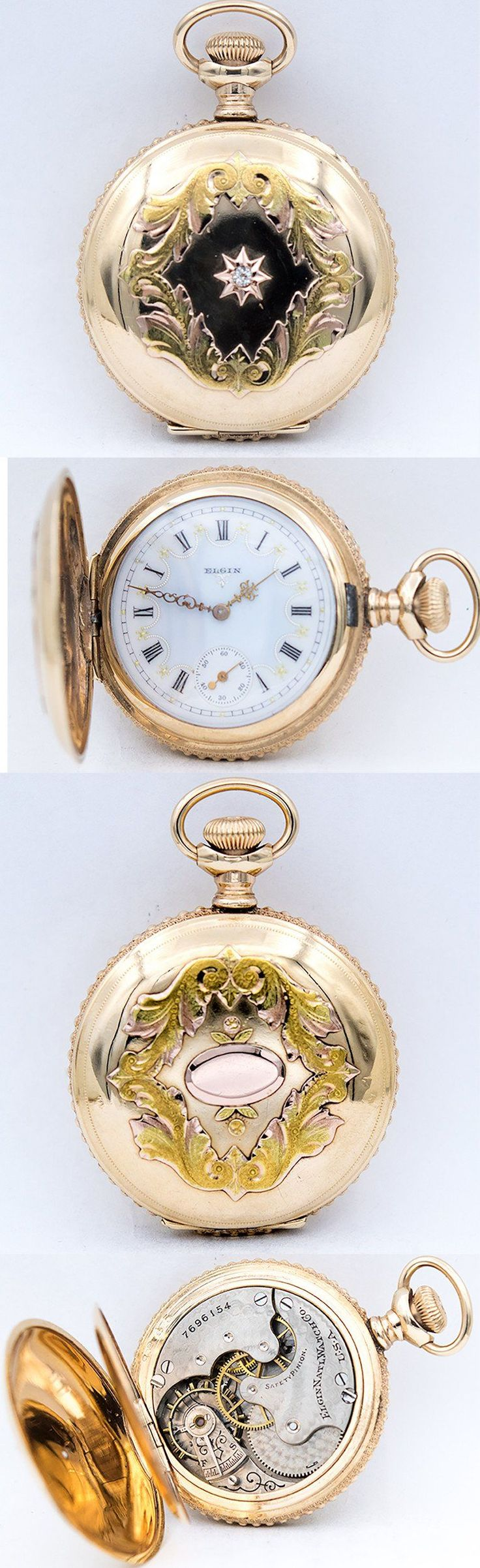 ELGIN Multicolor Pocket Watch - Available at Ashton-Blakey #vintagewatches #pocketwatches #antiquewatches