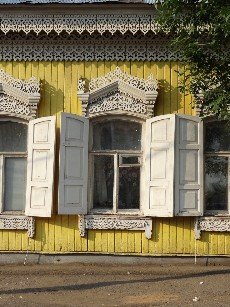 150 year old windows in Ufa, Russia