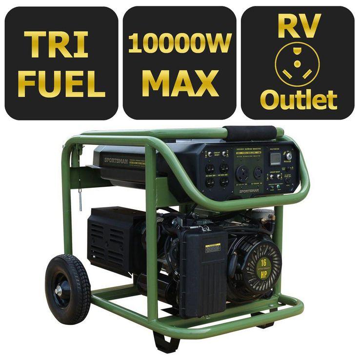 Sportsman 10,000/8,500Watt TriFuel Powered Electric