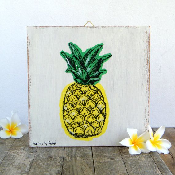 Check out this item in my Etsy shop https://www.etsy.com/il-en/listing/242128303/pineapple-print-on-wood-hipster-room