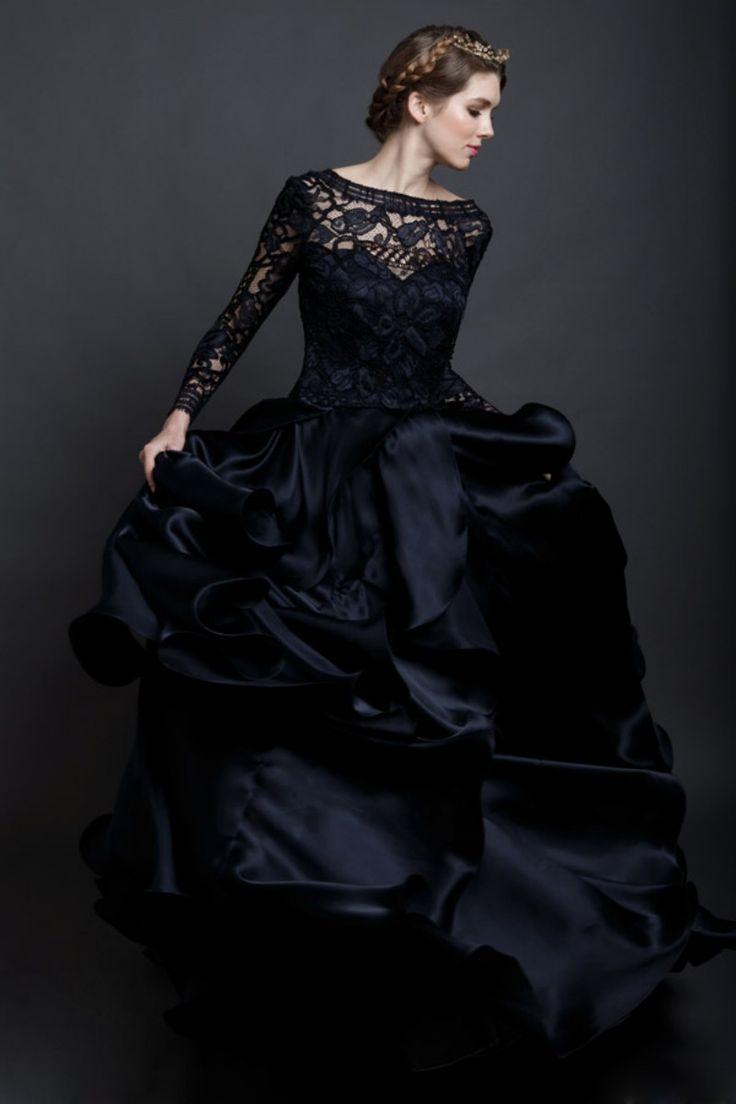 14 best black wedding dress images on pinterest black wedding black lace wedding dress ombrellifo Images