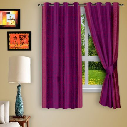 Story At Home Abstract Purple Window Curtain Set 2 Pcs - Add oodles of style to your home with an exciting range of designer furniture, furnishings, decor items and kitchenware. We promise to deliver best quality products at best prices.