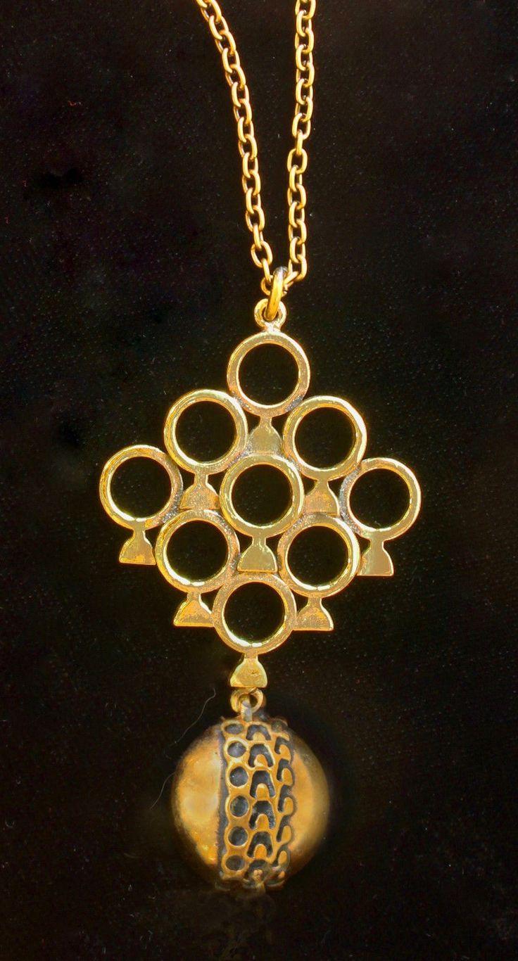 Pentti Sarpaneva for Turun Hopea (FI), vintage modernist bronze pendant, 1970s.     Pentti Sarpaneva    Turun Hopea