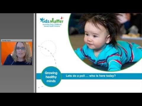 You won't let me 'be good'  KidsMatter Early Childhood webinars | kidsmatter.edu.au