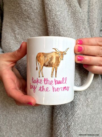 Bull by the Horns Mug // Evelyn Henson www.evelynhenson.com
