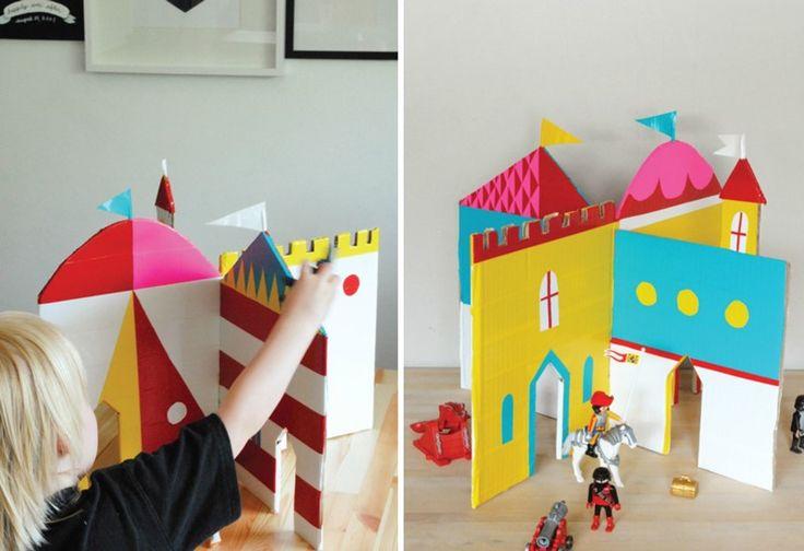 M s de 25 ideas incre bles sobre castillo de cart n en - Manualidades castillo medieval ...