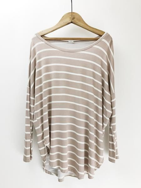 Striped Slouchy Top