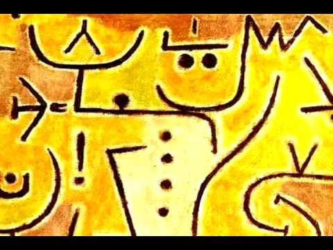 """Paul Klee 4  minutes of works.  """"A line is a Dot that went for a Walk.""""-Paul Klee  sounds like CLAY"""