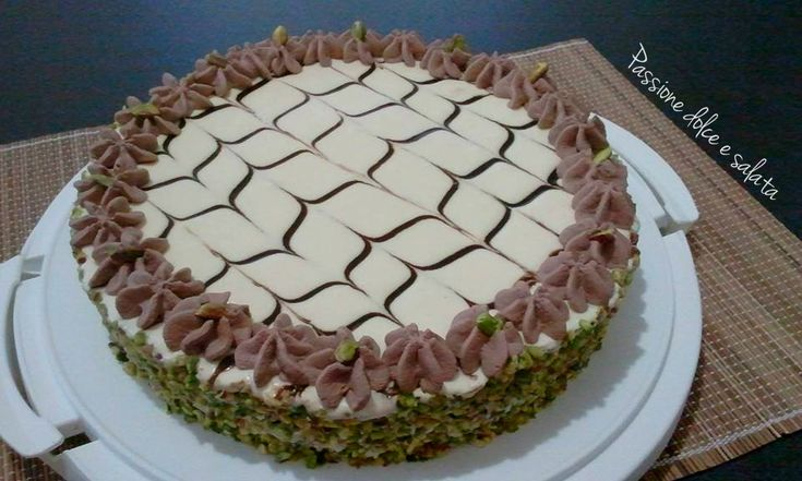 torta al pistacchio e crema al mascarpone