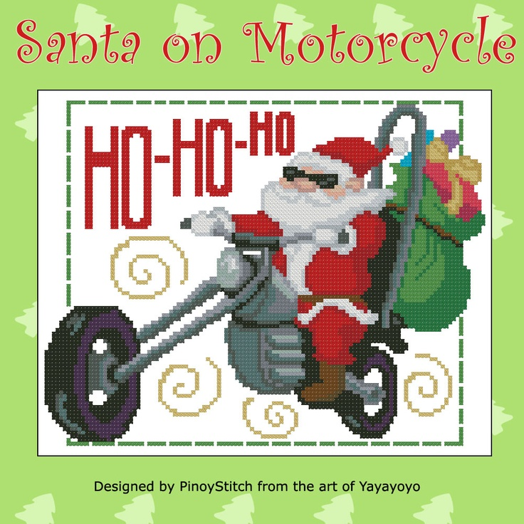 This Christmas, Santa has ditched the reindeers for a motorcycle! Get this Santa on a motorcycle for a vroom - vroom Christmas!