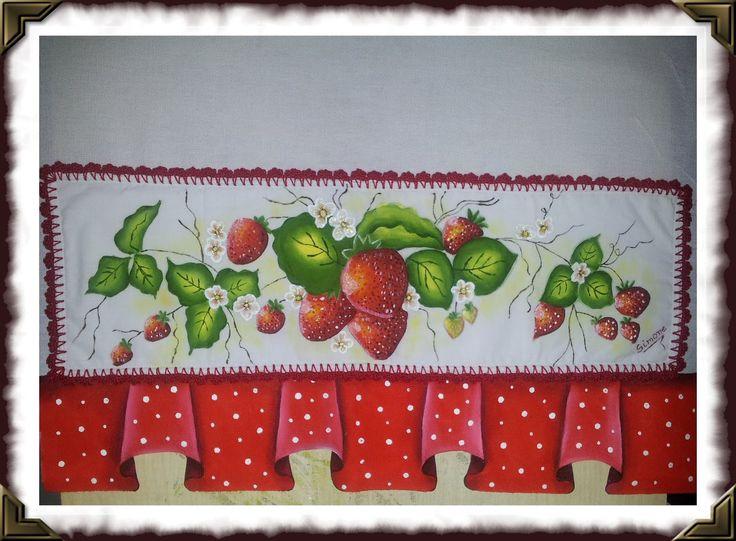 morangos com barrado pintado