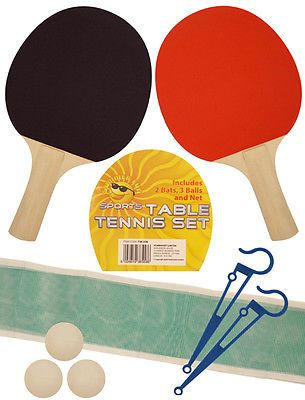 Table #tennis game set for 2 #players ping pong bats 3 balls net pole #complete s,  View more on the LINK: 	http://www.zeppy.io/product/gb/2/162002682924/