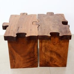 mid century modern end tables overstock add a piece to your decor with this wooden puzzle piece stool