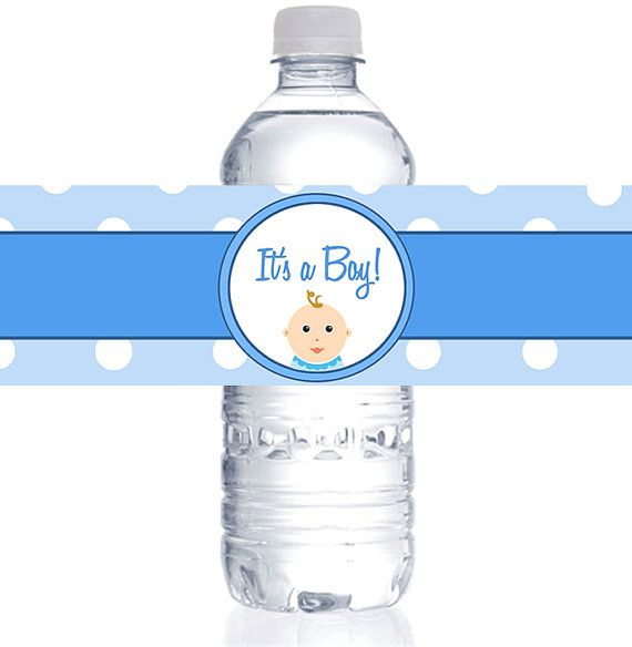 It S A Boy Water Bottle Labels For Baby Shower Choose