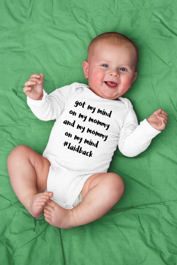 Habe meinen Verstand auf meine Mama lustige Baby Onesie, Baby Boy Body, Baby Mädchen Outfit, ein Stück Baby Geschenk,   – Products