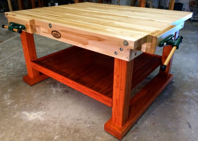 Four Station Workbench Woodworking Garage Woodworking