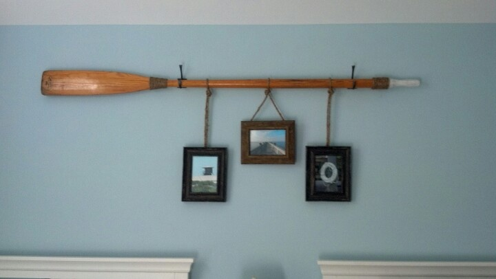 Wooden Oar Picture Hanging 5 Frames From Gabriel Bros