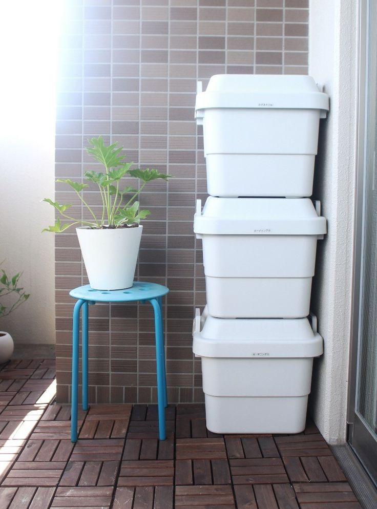 ベランダ収納には無印の「頑丈収納ボックス」がベストな理由4つ ... 4.積み重ねられる!