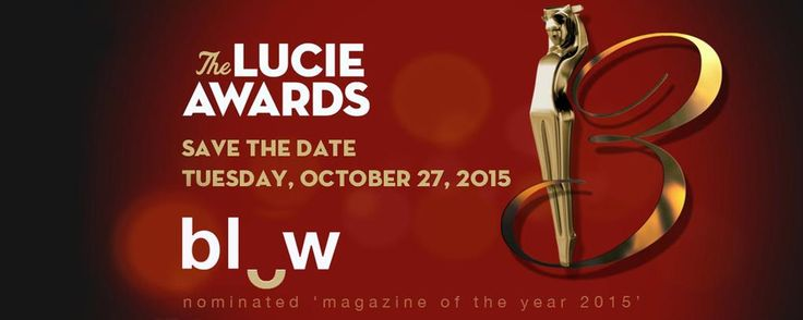 BLOW Photo news // BLOW Photo nominated 'magazine of the year 2015' Lucie Foundation thanks to all our subscribers & followers #BLOWPhoto #LucieAwards2015