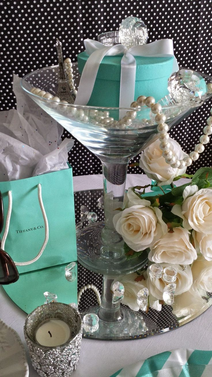Bridal shower party supplies - Eventsojudith Breakfast At Tiffany Theme Centerpiece Tiffany Party Themesbridal Shower Centerpiecestiffany Centerpiecescenterpiece Ideastiffany