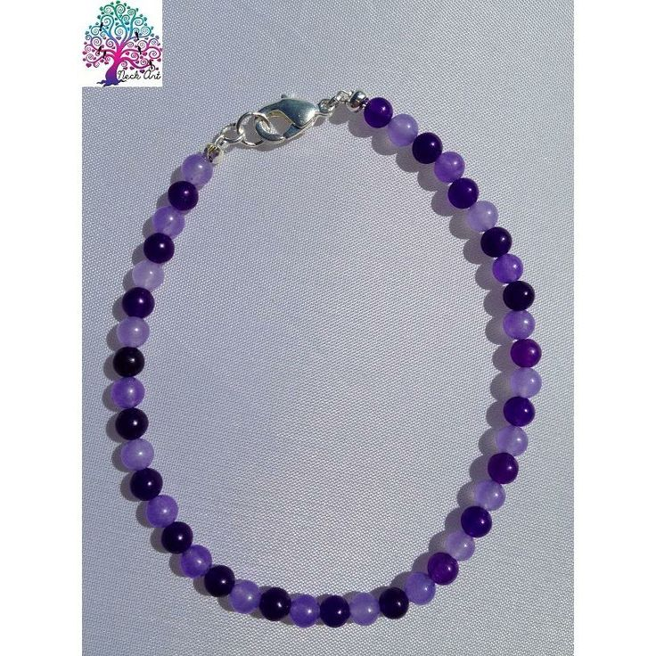 $7 Beaded Bracelet Purple by NeckArt on Handmade Australia