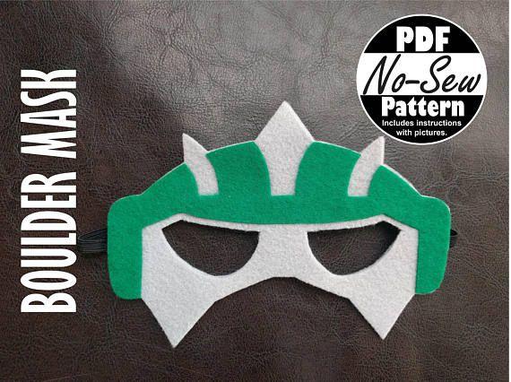 Boulder Rescue Bot No-Sew Mask Pattern
