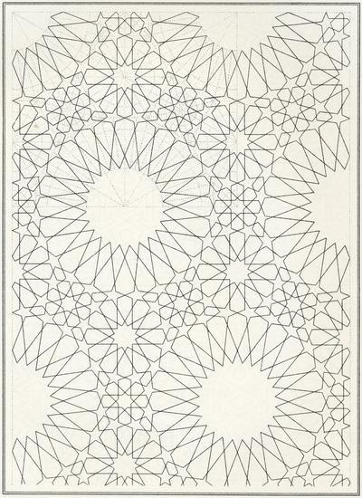 Pattern in Islamic Art - BOU 140 moorish arabesque moroccan muslim geometric tile design