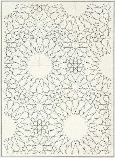 Pattern in Islamic Art - BOU 140 moorish arabesque moroccan muslim geometric tile design #islamicart