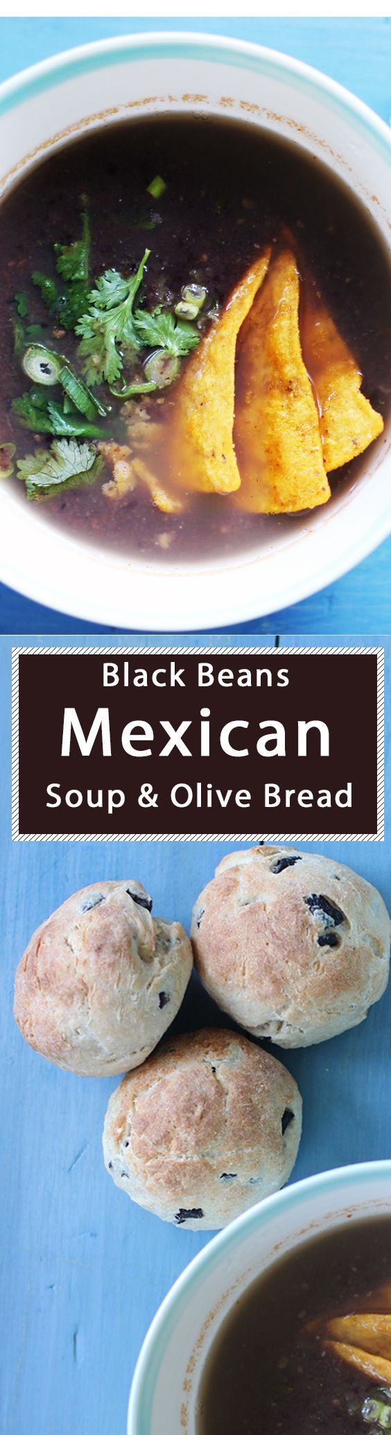 Black beans Mexican Soup  for summer  Serves 2-4 500ml (17fl oz) of water 400g (14 oz) of tin black beans, drained and rinsed.  250g (9 oz) of fresh prepared salsa ( see below for salsa ingredients ) 2 x spring onions (scallions) finely sliced.  handful of coriander (cilantro) finely chopped.  handful of tortilla chips, cut in to small long strips