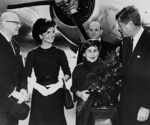 1961. 16 Octobre. John and Jackie Kennedy with Finnish President Mr. Kekkonen and his wife