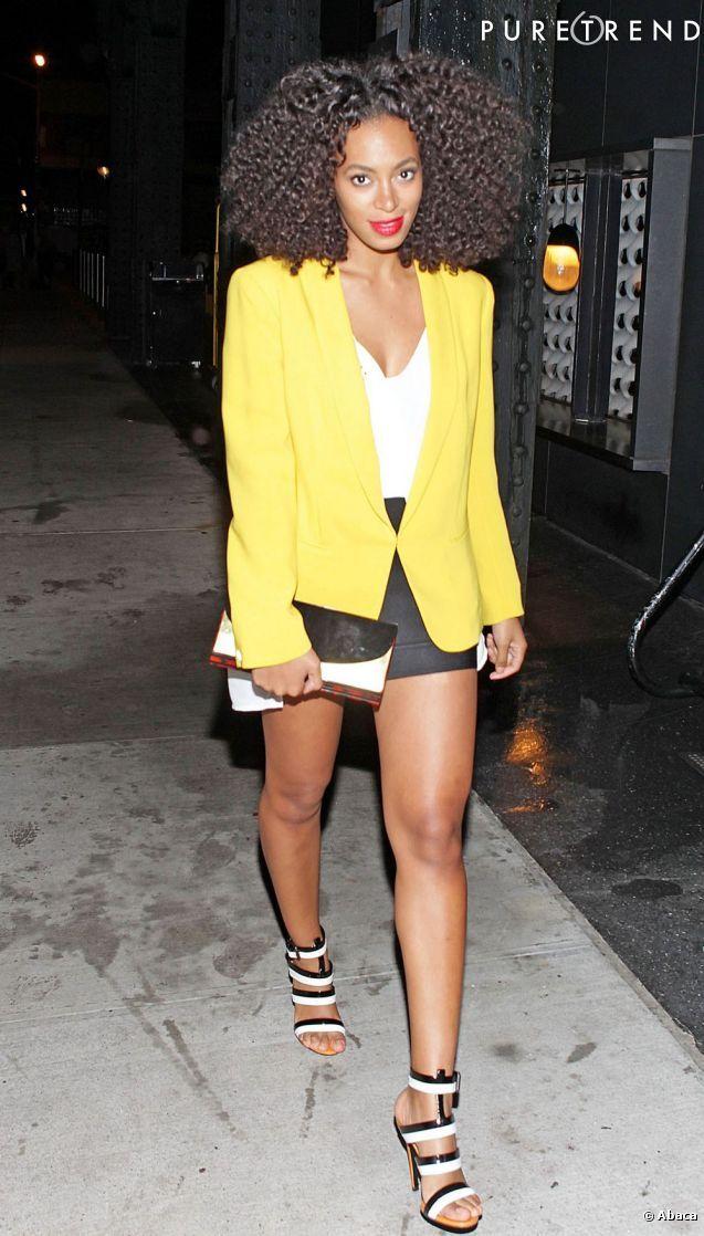 solange knowles   Solange Knowles, rayonnante dans un blazer jaune poussin - Photos